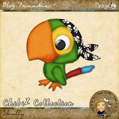 Scrapbooking TammyTags -- TT - Designer - Designz by DeDe,  TT - Item - Element,  TT - Thing - Bird, TT - Theme - Pirates