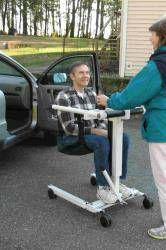 Take-along Portable lift for car transfers