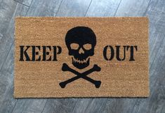 Keep Out doormat /Skull Welcome Mat