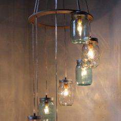 Simple DIY chandelier