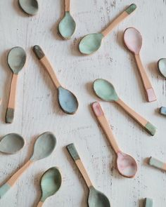 No YOURE obsessed with Little Ceramic Teaspoons...I can stop whenever I like   More of these colourful little delights will be in my next shop update which will be very soon!!! Sign up to my mailing list and youll be the first to know. Link is in my profile.  Happiest of Mondays to you