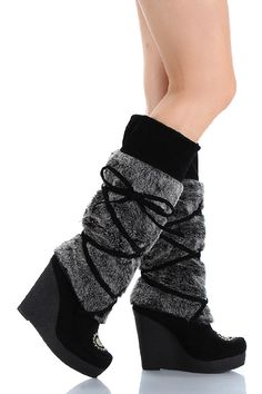 cute to wear to keep me warm. Stiletto Boots, Heeled Boots, Royal Blue Wedding Shoes, Nylons, Knee High Wedge Boots, Leggings, Fur Boots, Cool Boots, Hot Shoes