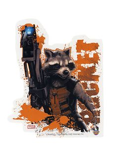 Marvel Guardians Of The Galaxy Rocket Raccoon Sticker | Hot Topic