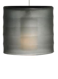 Tech Lighting 700MPBALK-LEDS830 Bali 1 LED Light Pendant with Hand-Carved Smoke Smoke with