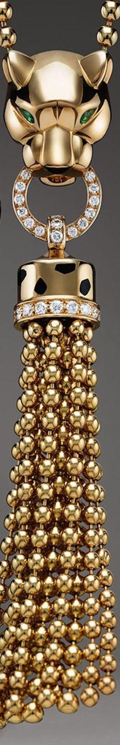 Cartier gold panathe beauty bling jewelry fashion