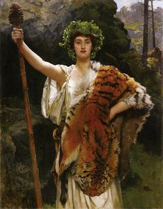 John Collier : The Priestess of Bacchus