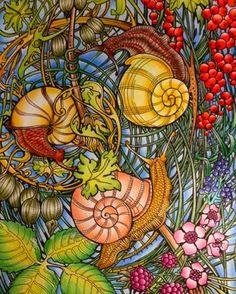 From Manic Botanic Coloring Book By Irina Vinnik