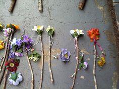 Fairy Wand  Autumn Flowers on Live Oak by WhimsyGear on Etsy, $25.00