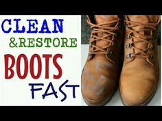 Justine from Boot Barn shows you how to clean and condition your work boots. Great tips on how to keep your feet dry as well. Thanks Justine. All these produ. How To Clean Timberlands, Clean Timberland Boots, Clean Suede Boots, How To Clean Suede, Old Boots, Shoe Boots, Shoes, Suede Leather, Leather Boots