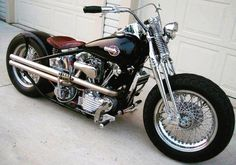 Knucklehead bobber No I dont get tired of passing around knuckleheads. Harley Davidson Knucklehead, Harley Bobber, Harley Davidson Chopper, Harley Davidson Motorcycles, Bobber Bikes, Bobber Motorcycle, Cool Motorcycles, Vintage Motorcycles, Motorcycle Garage