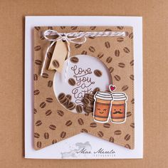 Love you a Latte Shaker Card  + 1 | von Mar Merelo