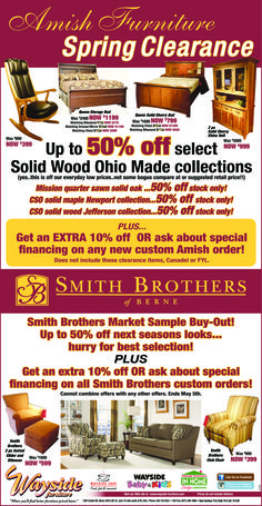 Amish  Furniture Spring Clearance!
