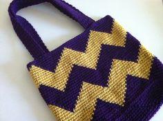 chevron crochet bag