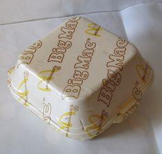 The old Big Mac styrofoam box