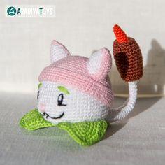 Cattail (Plants vs. Zombies) amigurumi crochet pattern by AradiyaToys