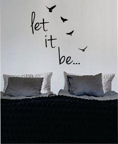"Beatles ""let it be"" vinyl wall art"