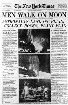 Apollo 11 first moon landing July 20 New York Times: July 21 1969 New York Times, New Times, Neil Armstrong, Newspaper Article, Old Newspaper, La Times Newspaper, Newspaper Design, Newspaper Headlines, Up Book