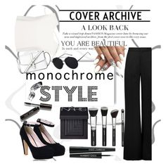 """Black & White"" by ashstylist101 on Polyvore featuring Finders Keepers, Roksanda, NARS Cosmetics, Bobbi Brown Cosmetics, Dolce&Gabbana, L.K.Bennett and monochrome"