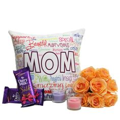 Beautiful U Forever				This superb combo is specially designed while keeping in mind the wonderful occasion of mother's day. It comprises of a 12x12 inches super soft cushion which features a fabulous digital print, two Silk chocolates of 65g each, two designer candles and a bunch of 8 artificial roses. http://www.giftsbymeeta.com/beautiful-u-forever-gifts1805?search=gifts1805