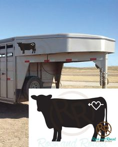 Custom Cattle Silhouette with Brand Vinyl by RockandRowelCreative
