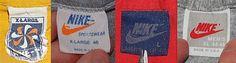 Pinwheel (1978-1980) Orange Sportswear (1980-1983) Blue (1984-1988) Grey (1989-1993)