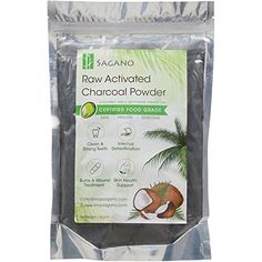 Activated Charcoal Powder by Sagano Premium Food Grade Raw Coconut Carbon Bulk More Effective than Hardwood Activated Charcoal Natural Teeth Whitening Digestion Detox * You can find more details by visiting the image link. Raw Coconut, Organic Coconut Oil, Coconut Shell, Diy Peel Off Mask, Coconut Activated Charcoal, Charcoal Toothpaste, Stronger Teeth, Pore Cleanser, Natural Teeth Whitening