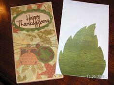 Thanksgiving Card and Envelope - Wild Card and Designer's Calendar cartridges
