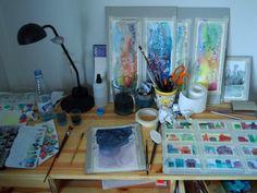 Watercolour area...