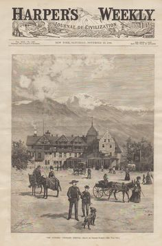 1886 Harper's Weeky featuring the Antler's Hotel