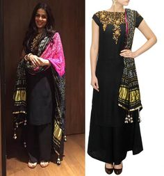 #genelia'd souza #tishasaxsena #perniaspopupshop #shopnow #happyshopping Indian Clothes, Indian Dresses, Indian Outfits, Celebrity Books, Celebrity Style, Chudidhar Designs, Black Kurti, Ethenic Wear, Pakistani Suits
