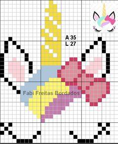 Discover recipes, home ideas, style inspiration and other ideas to try. Mini Cross Stitch, Cross Stitch Animals, Cross Stitch Charts, Cross Stitch Designs, Cross Stitch Patterns, Cross Stitching, Cross Stitch Embroidery, Unicorn Cross Stitch Pattern, Modele Pixel Art