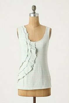 Feather's Flights {a creative, sewing blog}: Anthropologie Wandering Wake Tank Tutorial