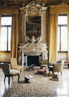 Sitting Room, Palazzo Papadopoli, Venice.