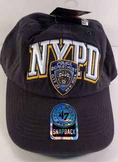 CSI Logo Law Enforcement Baseball Cap Hat Navy White Officially Licensed by NYC