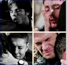 All Hell Breaks Loose and Do You Believe in Miracles - when the Winchester brothers died in the other's arms Dean Winchester, Winchester Brothers, Best Tv Shows, Best Shows Ever, Jared Padalecki, Jensen Ackles, Supernatural Fandom, Supernatural Quotes, Sherlock Quotes