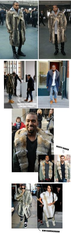 KANYE WEST fur coats New Outerwear Trend Slouchy Coats and Furs
