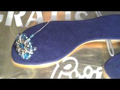 Como hacer sandalias de cristal - YouTube