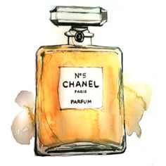 I love this perfume and I love this watercolor.