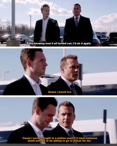 This is actually their way of saying I love you. #Bromance #Marvey #Suits