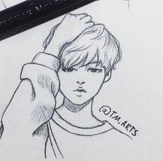 Easy Drawings Sketches, Kpop Drawings, Cool Sketches, Cute Drawings, Pencil Drawings, Boy Cartoon Drawing, Cartoon Faces, Guy Drawing, Moon Coloring Pages