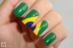 iEsmalte: Unhas Decoradas - Bandeira do Brasil