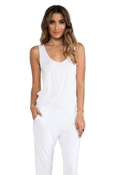 Indah Lagoon Tank Jumpsuit in White from REVOLVEclothing