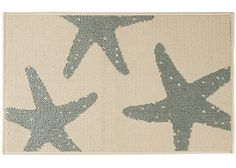The Bacova Starfish Accent Rug is perfect for indoor or outdoor use and features skid resistant latex backing. This durable Berber accent rug features a starfish design and measures 20 x 33 inches.