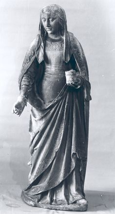 """""""Mary Magdalene"""" Date: ca. 1500–1550 Geography: Made in possibly Champagne, France Culture: French Medium: Limestone Dimensions: H: 49 1/4"""" (125.1 cm) Classification: Sculpture"""