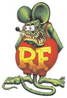 Ed Roth's Rat Fink ☮ Art by Ed Roth ~ Rat Fink! ~ ☮レ o √乇 ❥ L❃ve ☮~ღ~*~*✿⊱☮ ---