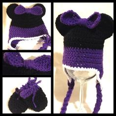 Custom Coloured Minnie Mouse inspired hat