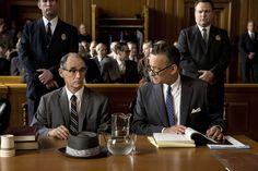 Mark Rylance and Tom Hanks in Bridge of Spies (2015).
