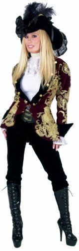 Halloween Costumes Women - Charades Women's Elegant Pirate Lady Costume, As Shown/Multi-Colored, Small ** Learn more by visiting the image link. (This is an affiliate link) #WomenHalloweenCostumes