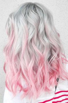 Hair Color Great Pink Ombre ❤️ Shades of Pastel Pink Hair . - Hair Color Great Pink Ombre ❤️ Shades of Pastel Pink Hair … color - Pastel Pink Hair, Hair Color Pink, Hair Dye Colors, Blonde Color, Cool Hair Color, Pink Grey Hair, Grey Blonde, Pastel Grey, Color Blue