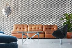Designed by Icelandic studio Dodlur, the interior of ODDSSON hotel& hostel on Reykjavík& waterfront radiates freshness, playfulness and originality. Arne Jacobsen Chair, Hotel Room Design, Piece A Vivre, Upholstered Chairs, Studio, Decoration, Creative, Design Inspiration, Interior Design